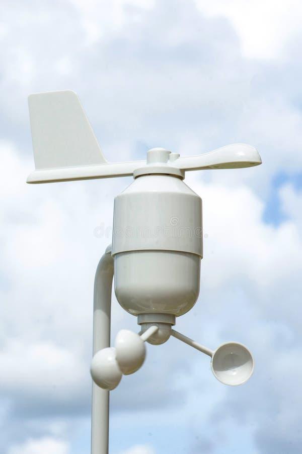 Station de météorologie d'anémomètre photographie stock