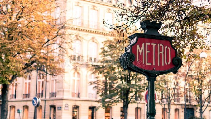 Station de métro à Paris photo libre de droits