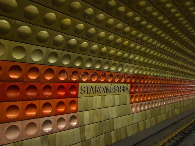 Station de métro à Prague images libres de droits