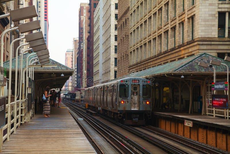 Station de métro Chicago images stock