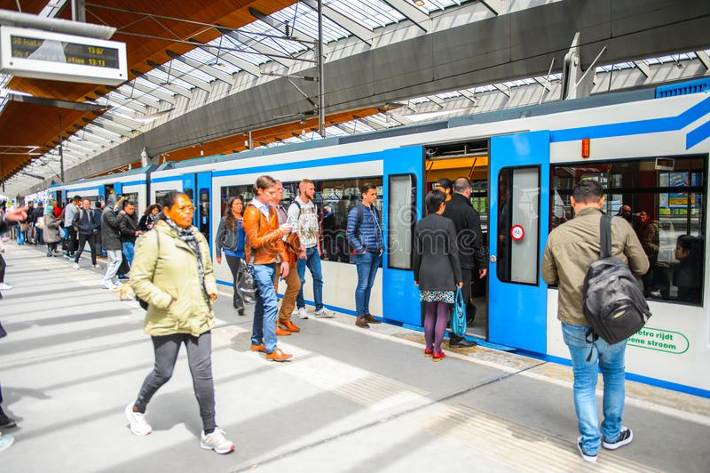 Station de métro d'arène de Bijlmer photo libre de droits