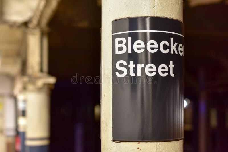 Station de métro de rue de Bleecker - New York City photos stock