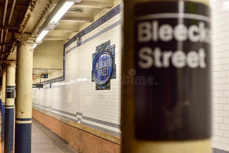 Station de métro de rue de Bleecker - New York City photo libre de droits