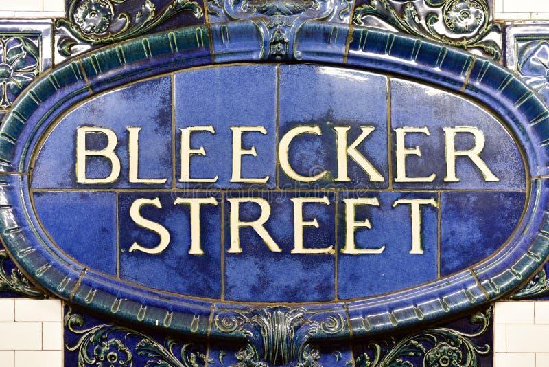 Station de métro de rue de Bleecker - New York City images stock