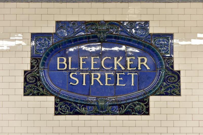 Station de métro de rue de Bleecker - New York City photographie stock libre de droits