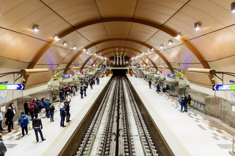 Station de métro de Serdika à Sofia images stock
