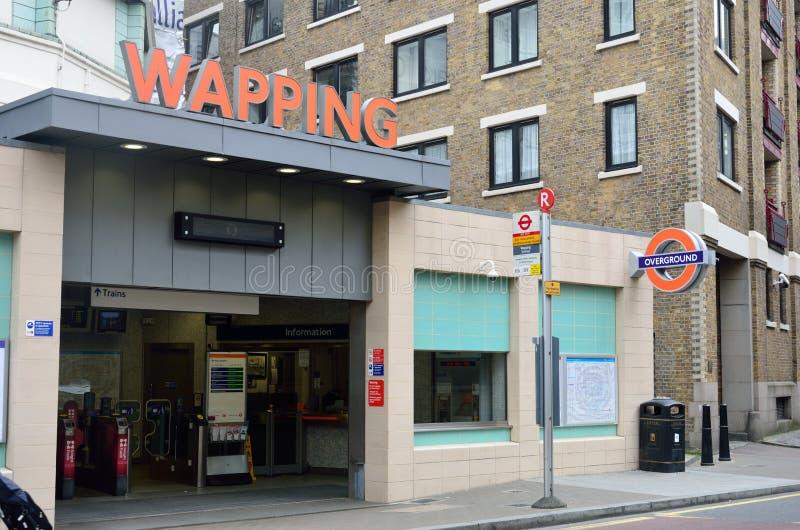 Station de métro de Wapping image stock