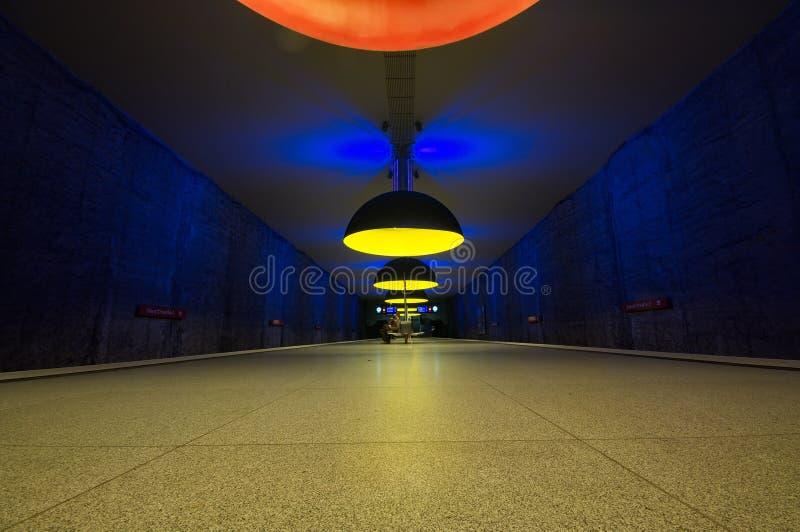 Station de métro de Westfriedhof à Munich photo libre de droits