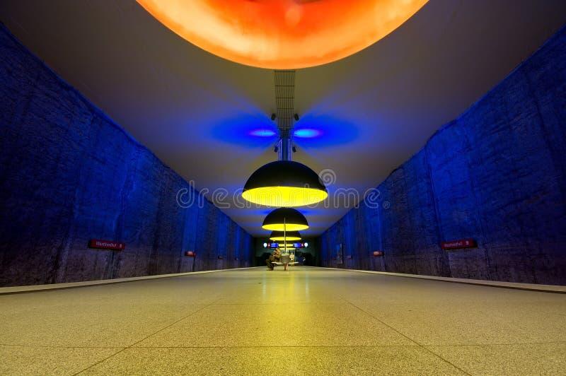 Station de métro de Westfriedhof à Munich image stock