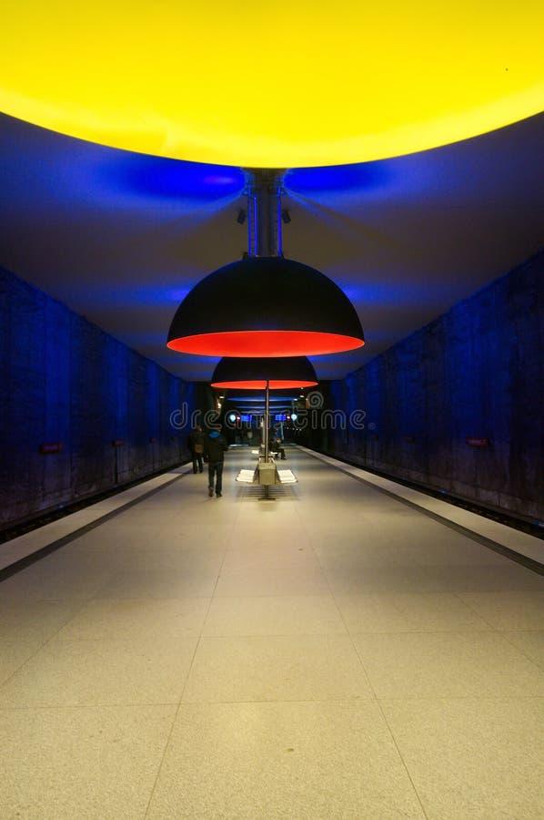 Station de métro de Westfriedhof à Munich photos stock