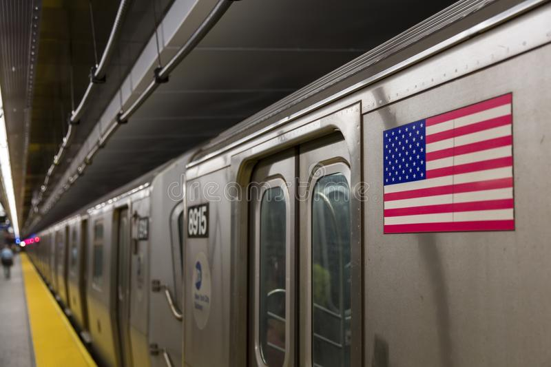Station de métro de New York City photos libres de droits