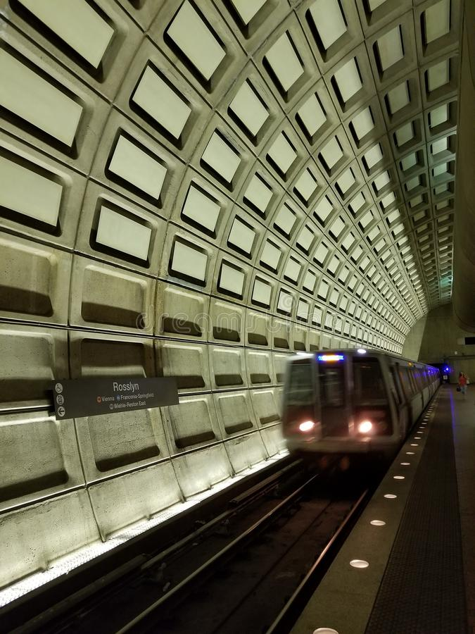 Station de métro de Rossyln photo libre de droits