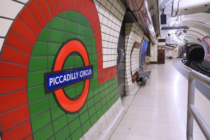 Station de m?tro de Londres photo libre de droits