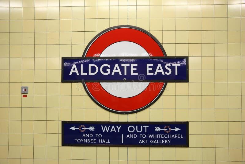 Station de m?tro de Londres image stock