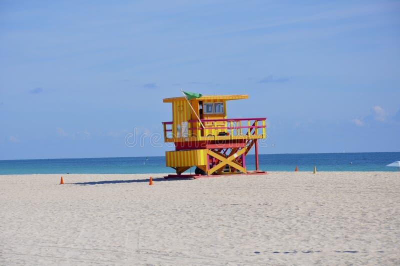 Station de maître nageur de Miami photo libre de droits