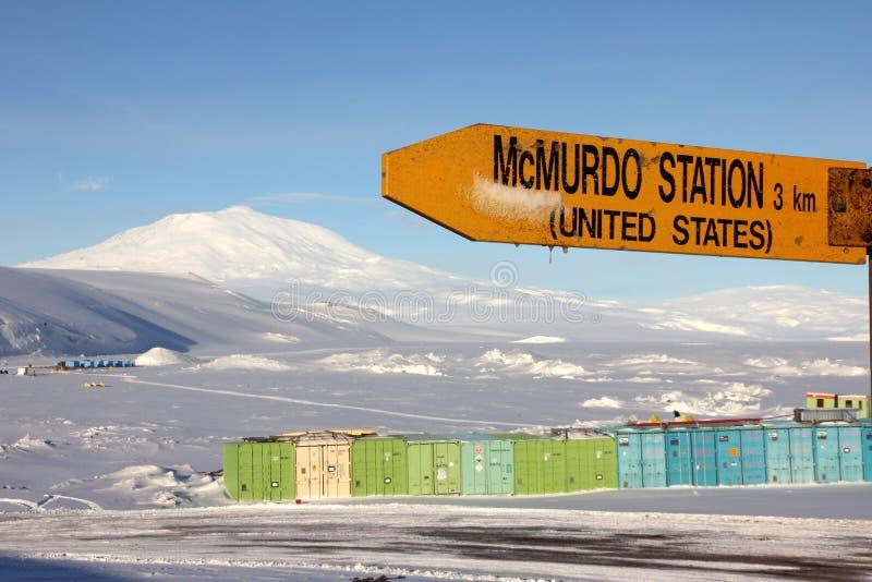 Station de McMurdo, Antarctique photographie stock libre de droits