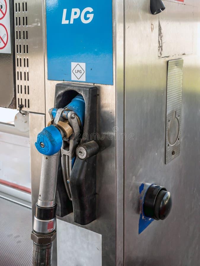 Station de pompage de LPG photo stock