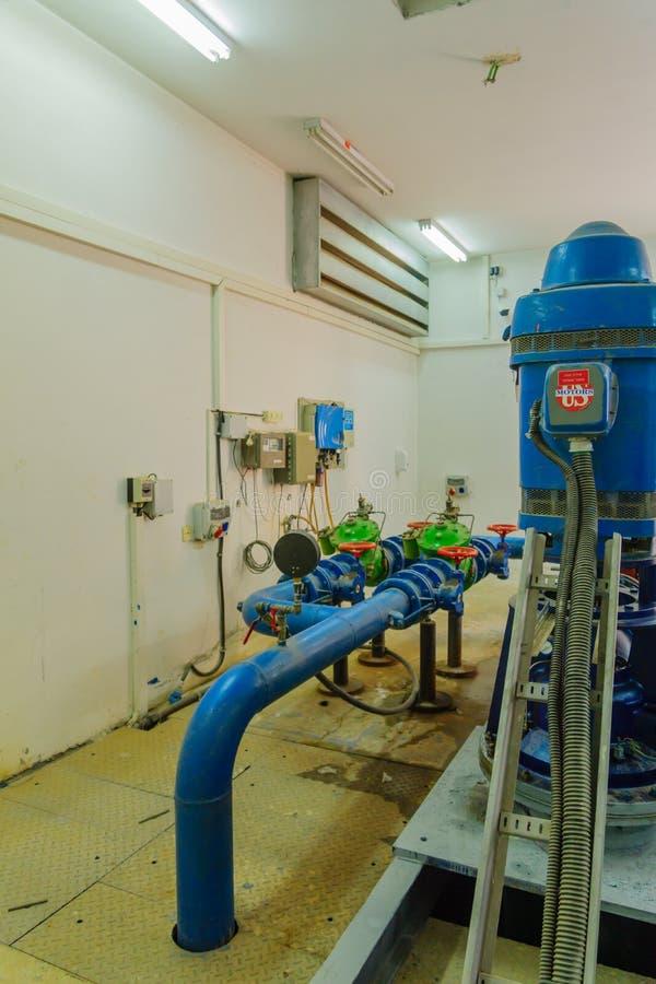 Station de pompage qui fournissent la pression d'eau appropriée, Tel Aviv photo stock