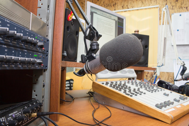Station de radio images stock