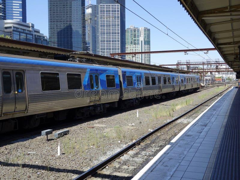 Station de rue de Flinders, Melbourne. photographie stock