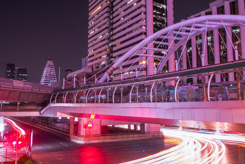 Station de Skywalk Cong Nonsi, Bangkok, Thaïlande photos stock
