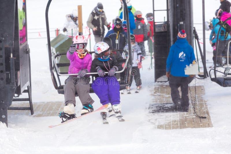 Station de sports d'hiver image stock