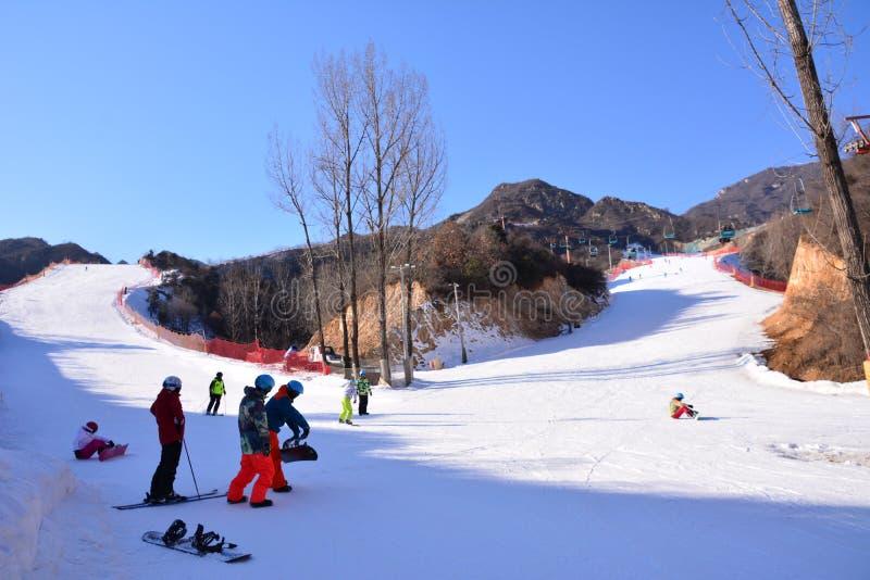 Station de sports d'hiver dans Pékin images libres de droits