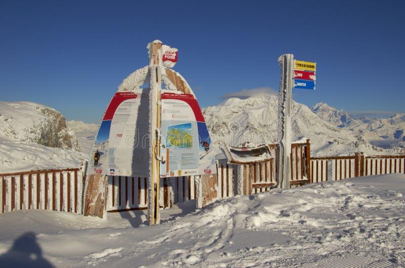 Station de sports d'hiver France Espace Killy image libre de droits