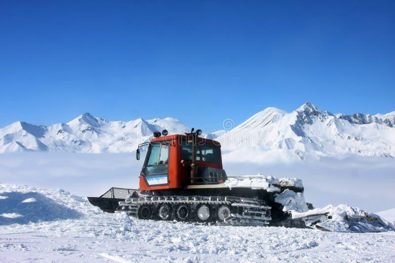 Station de sports d'hiver Gudauri en Géorgie, Caucase Montains image stock