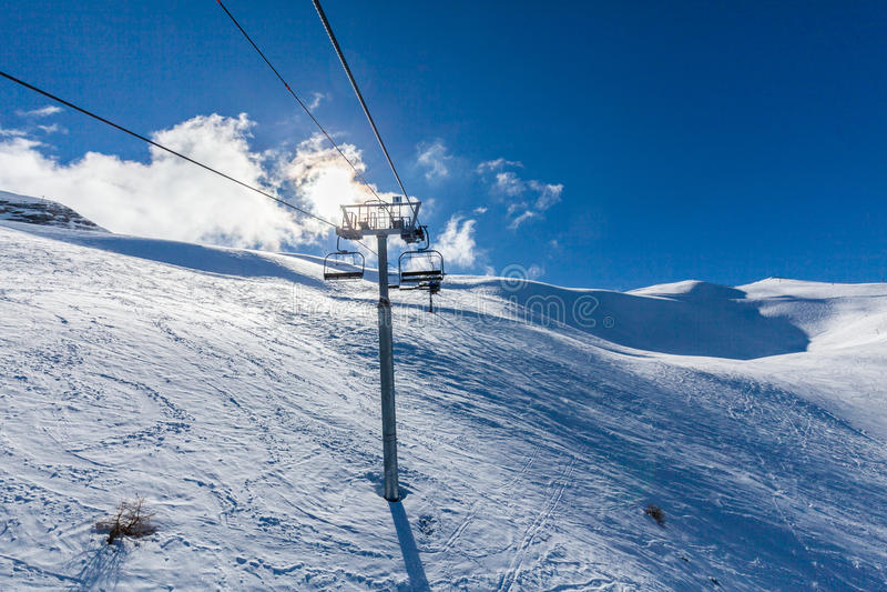 Station de sports d'hiver Les Orres, Hautes-Alpes, France images libres de droits