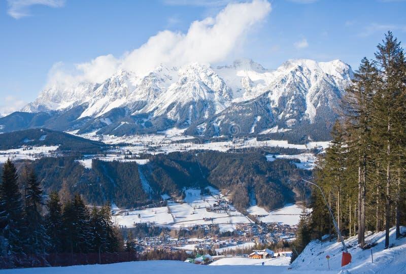 Station de sports d'hiver Schladming. l'Autriche images libres de droits