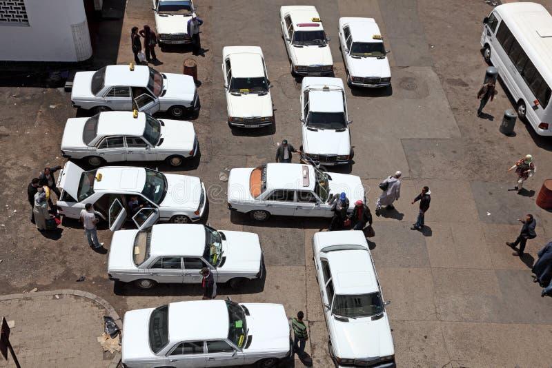 Station de taxis à Rabat, Maroc photographie stock libre de droits