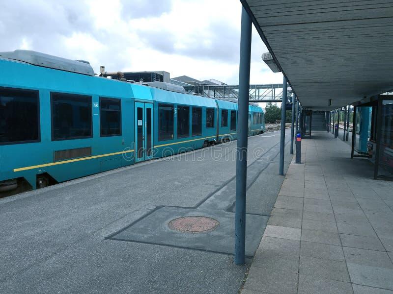 Station de train à Herning, Danemark images stock