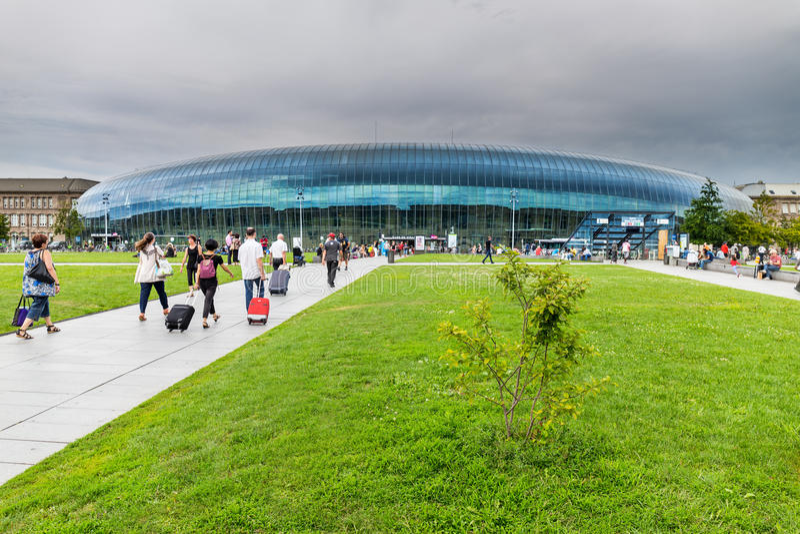 Station de train à Strasbourg - France image stock