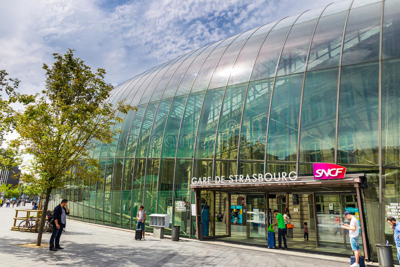 Station de train à Strasbourg - France images stock