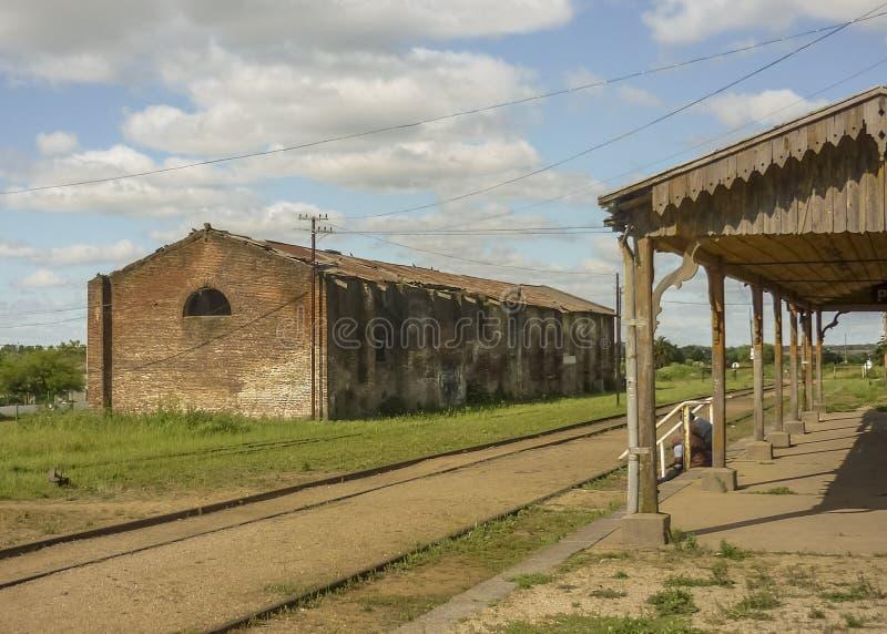 Station de train abandonnée en Uruguay photo stock
