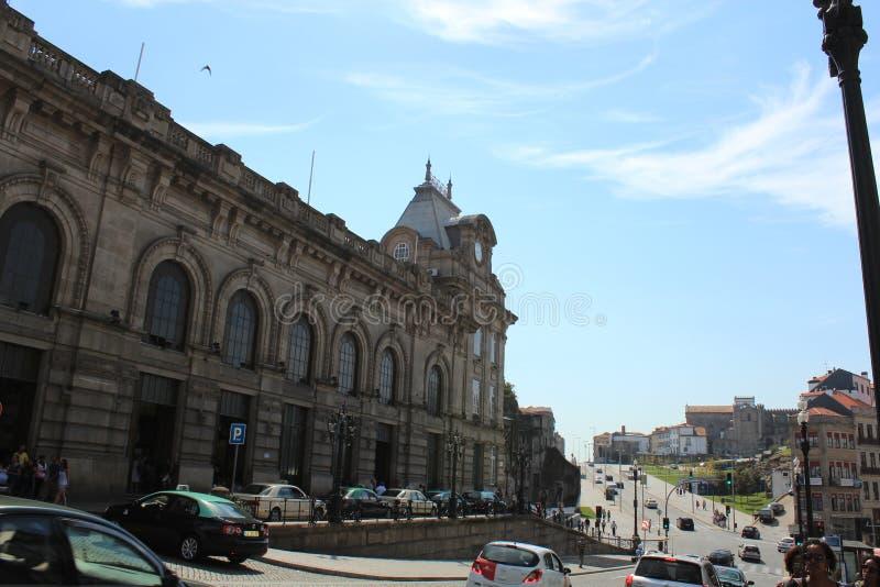 Station de train de bento de sao à Porto, Portugal Européen, Porto images libres de droits