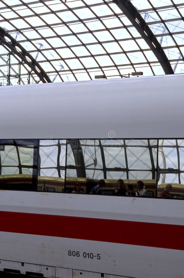 Station de train Berlin, Allemagne images stock