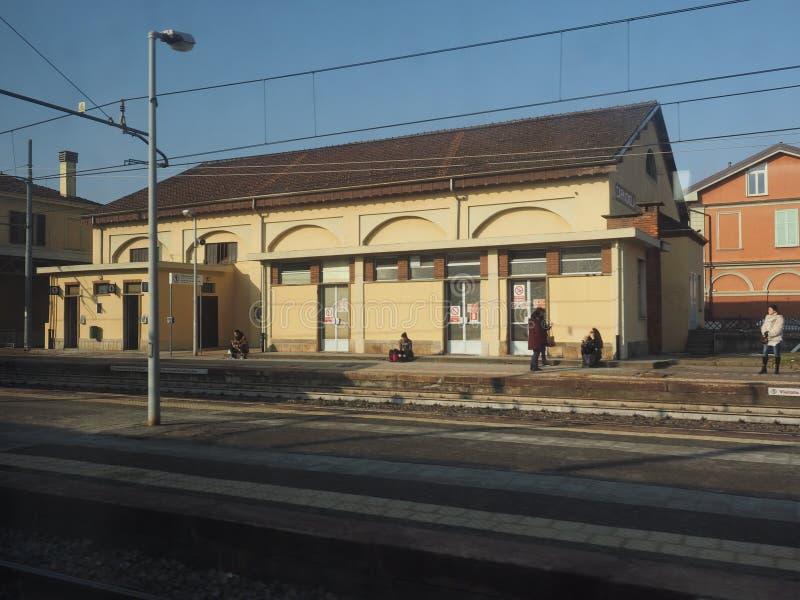 Station de train de Carmagnola photographie stock libre de droits