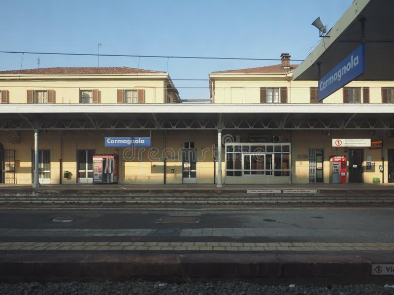 Station de train de Carmagnola photographie stock