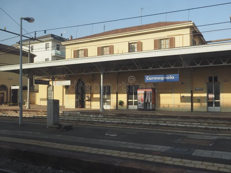 Station de train de Carmagnola photos libres de droits