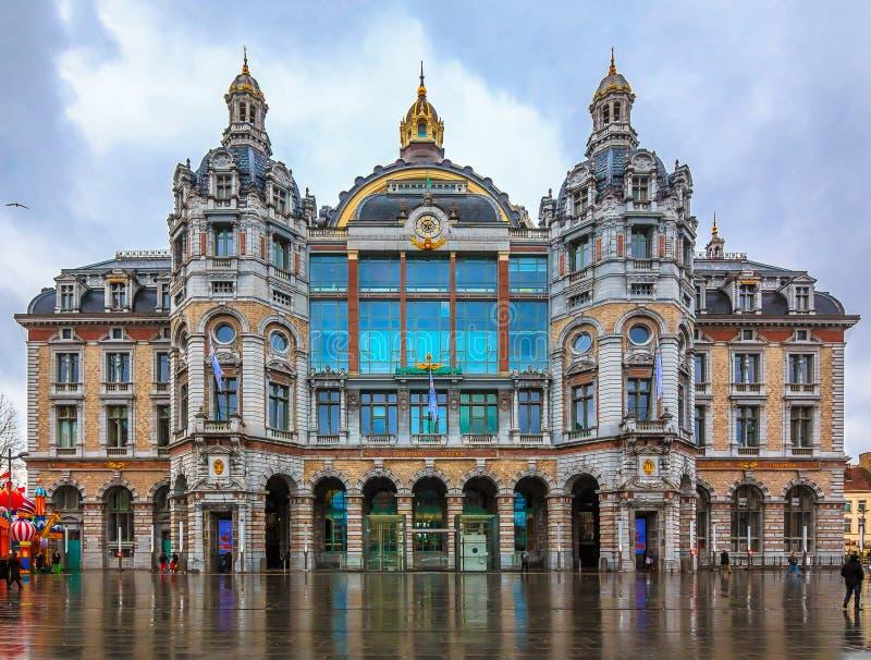 Station de train centrale d'Anvers en Belgique photographie stock