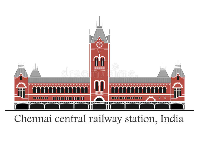 Station de train centrale de Chennai illustration libre de droits