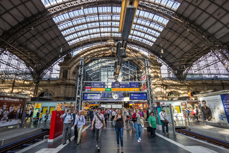 Station de train centrale de Francfort photos libres de droits