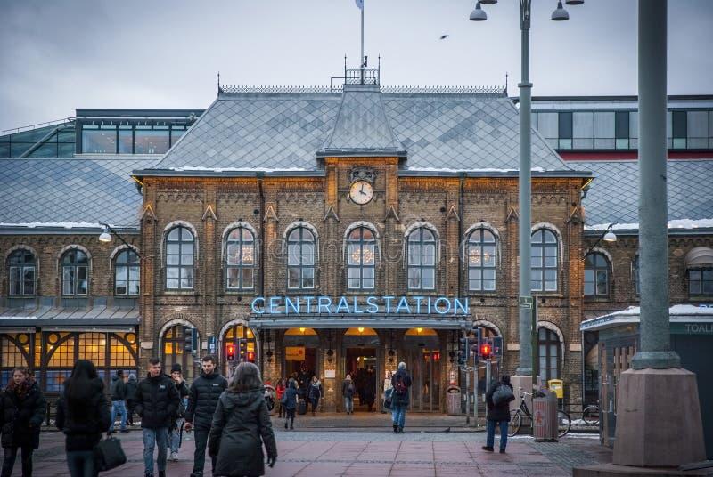 Station de train centrale de Gothenburg photos stock