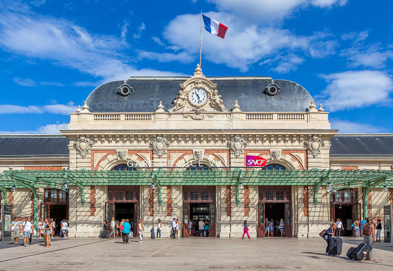 Station de train centrale gentille photos stock