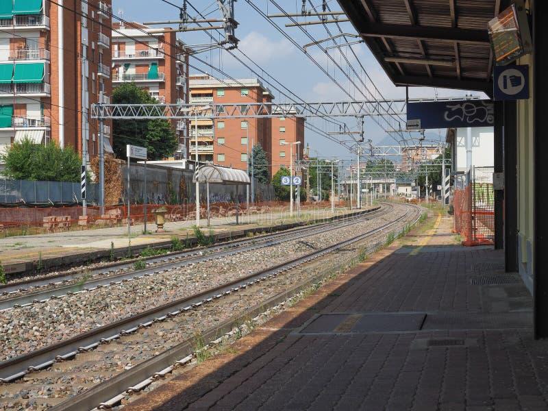 Station de train de Collegno dans Collegno photographie stock libre de droits