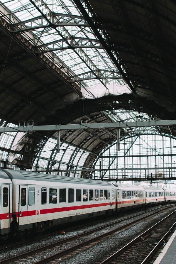 Station de train d'Amsterdam images libres de droits