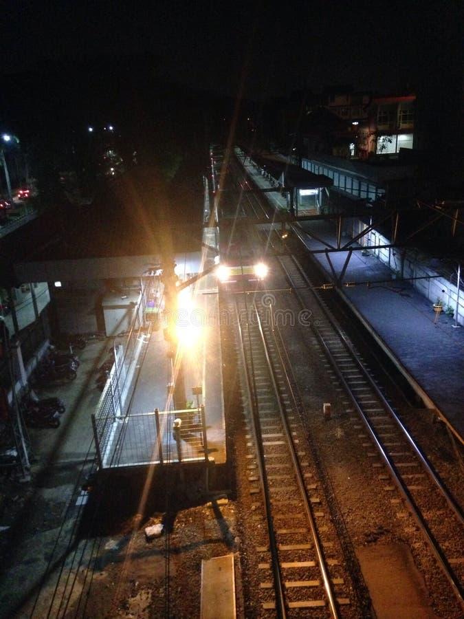 Station de train d'université de l'Indonésie images libres de droits