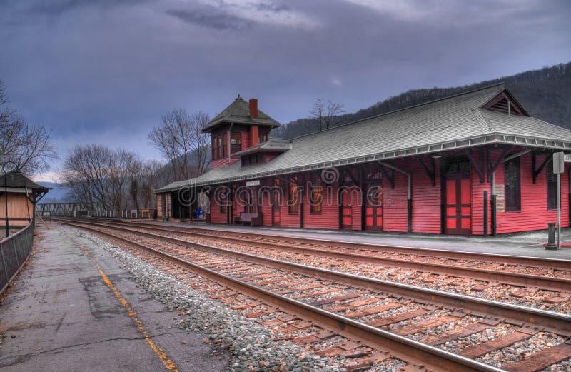 Station de train de la Virginie Occidentale du bac du harpiste image libre de droits